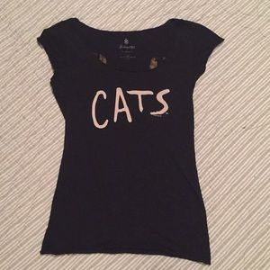 Tee and free pin.  CATS the musical.  Authentic